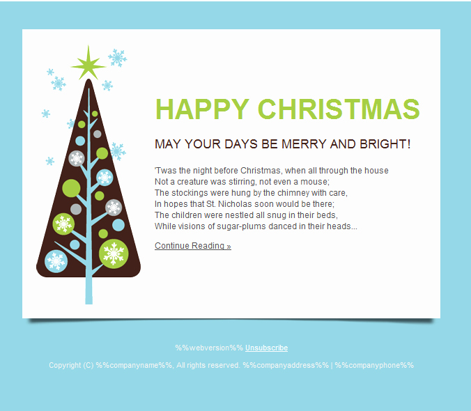 Holiday E Mail Template Best Of Happy Holidays Email Templates for New Year 2013