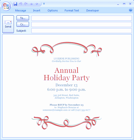 Holiday E Mail Template Best Of Holiday Party Email Invitations
