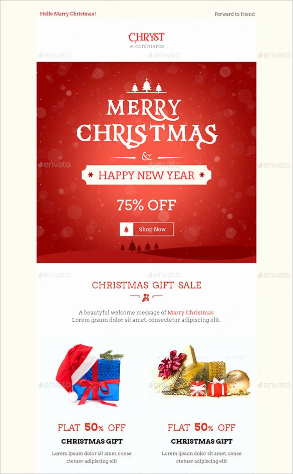 Holiday E Mail Template Elegant 38 Christmas Email Newsletter Templates Free Psd Eps