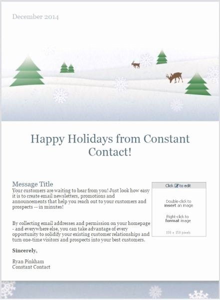 Holiday E Mail Template Elegant 7 Holiday Email Templates for Small Businesses & Nonprofits