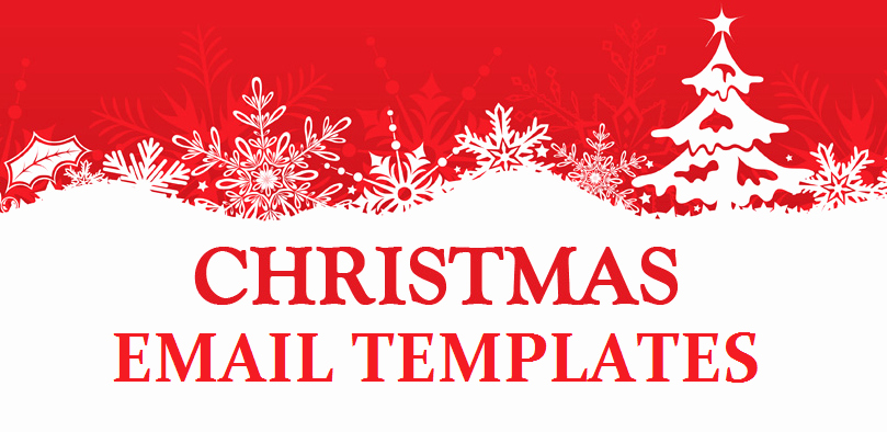Holiday E Mail Template Elegant Christmas Email Templates Responsive Xmas HTML Email