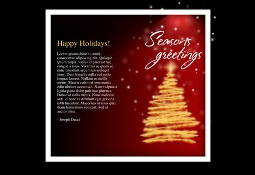 Holiday E Mail Template Elegant Free HTML Newsletter Templates Noupe