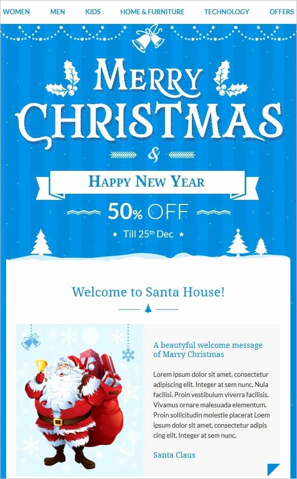 Holiday E Mail Template Fresh 38 Christmas Email Newsletter Templates Free Psd Eps