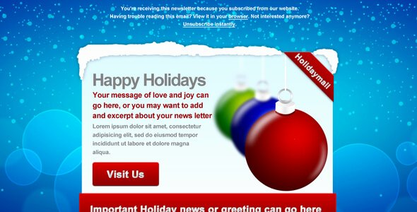 Holiday E Mail Template Fresh Best Christmas Newsletter Email Templates