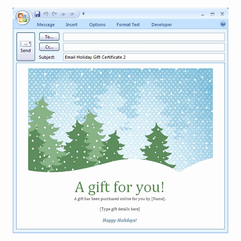 Holiday E Mail Template Fresh Holiday Email Template