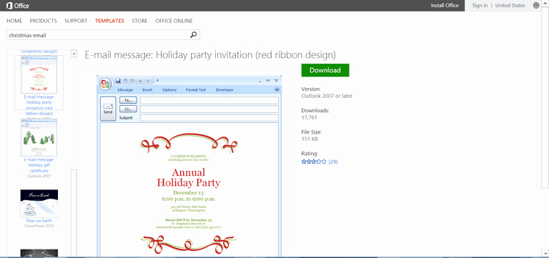 Holiday E Mail Template Fresh Microsoft S Best Free Diy Christmas Templates