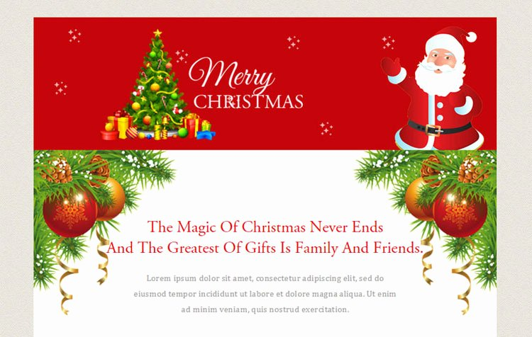 Holiday E Mail Template Inspirational 10 Christmas Email Newsletter Templates Designerslib