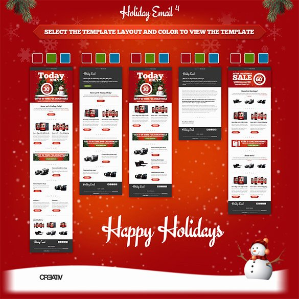 Holiday E Mail Template Inspirational Holiday Email Template – 18 Free Jpg Psd format Download