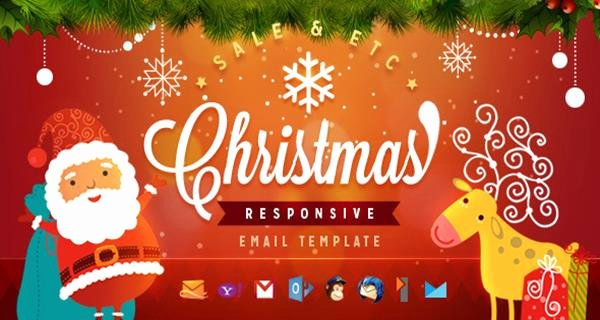 Holiday E Mail Template Luxury 10 Beautiful Premium Custom Made Christmas Email Templates