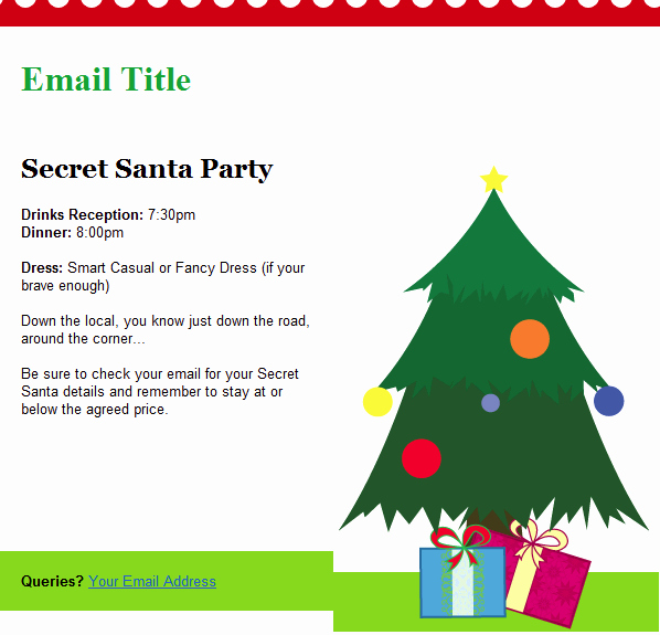 Holiday E Mail Template Luxury Christmas Email Templates Included with Groupmail