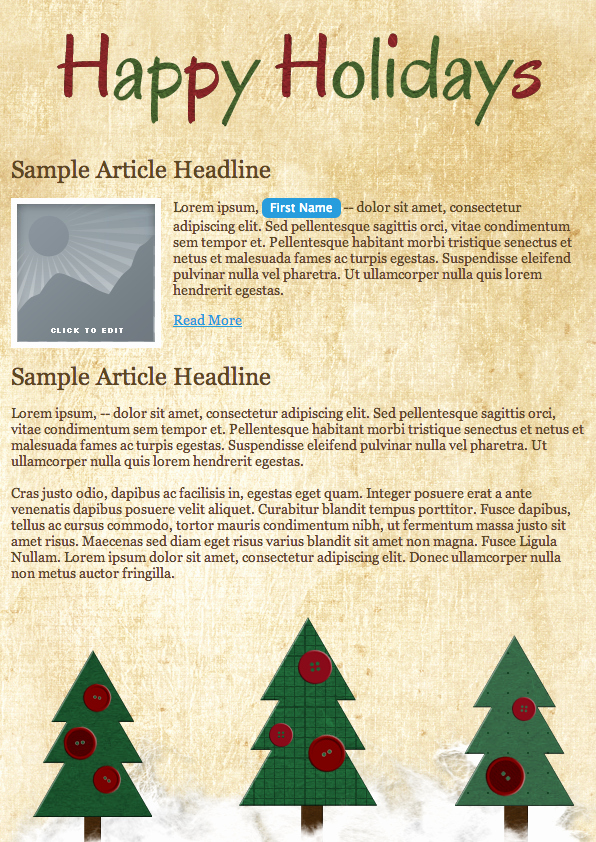 Holiday E Mail Template Luxury Deck Out Your Email Campaign 5 Free Holiday Templates