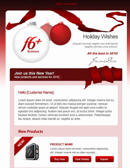 Holiday E Mail Template New 17 Beautifully Designed Christmas Email Templates for