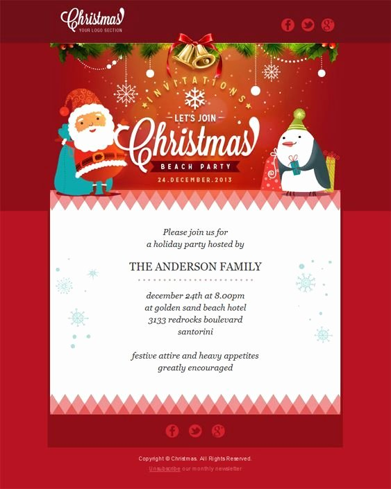 Holiday E Mail Template New 22 Inspirational Christmas HTML Email Templates