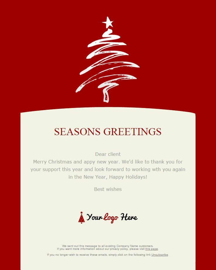 Holiday E Mail Template Unique 104 20 Free Christmas and New Year Email Templates