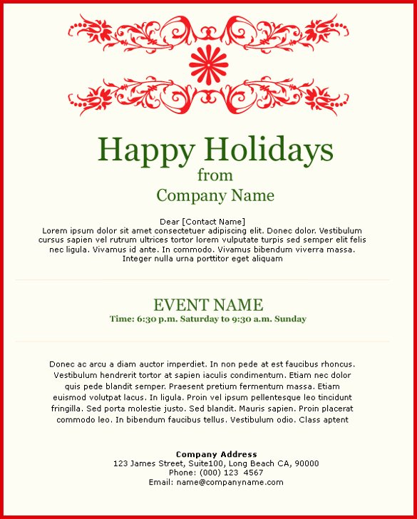 Holiday E Mail Template Unique 11 Exceptional Email Invitation Templates Free Sample