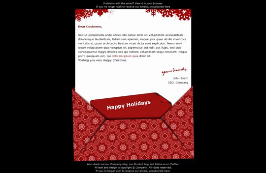 Holiday E Mail Template Unique 17 Beautifully Designed Christmas Email Templates for