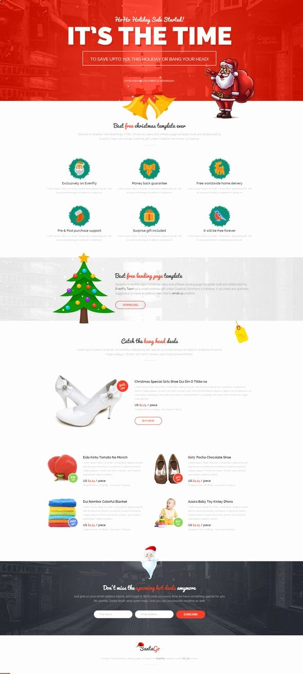 Holiday E Mail Template Unique 22 Inspirational Christmas HTML Email Templates