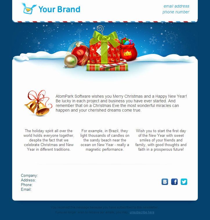Holiday E Mail Template Unique Christmas Email Templates for Free 2014 From atompark