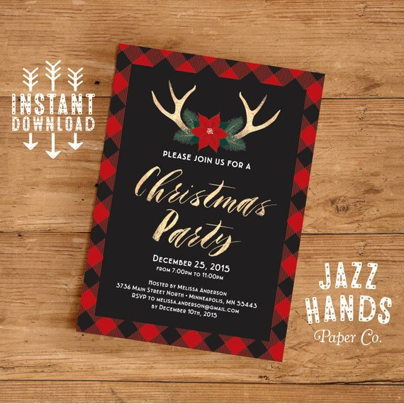 Holiday Party Invite Template Awesome Christmas Party Invitation Template Diy Printable Holiday