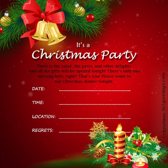 Holiday Party Invite Template Beautiful Christmas Invitation Template and Wording Ideas