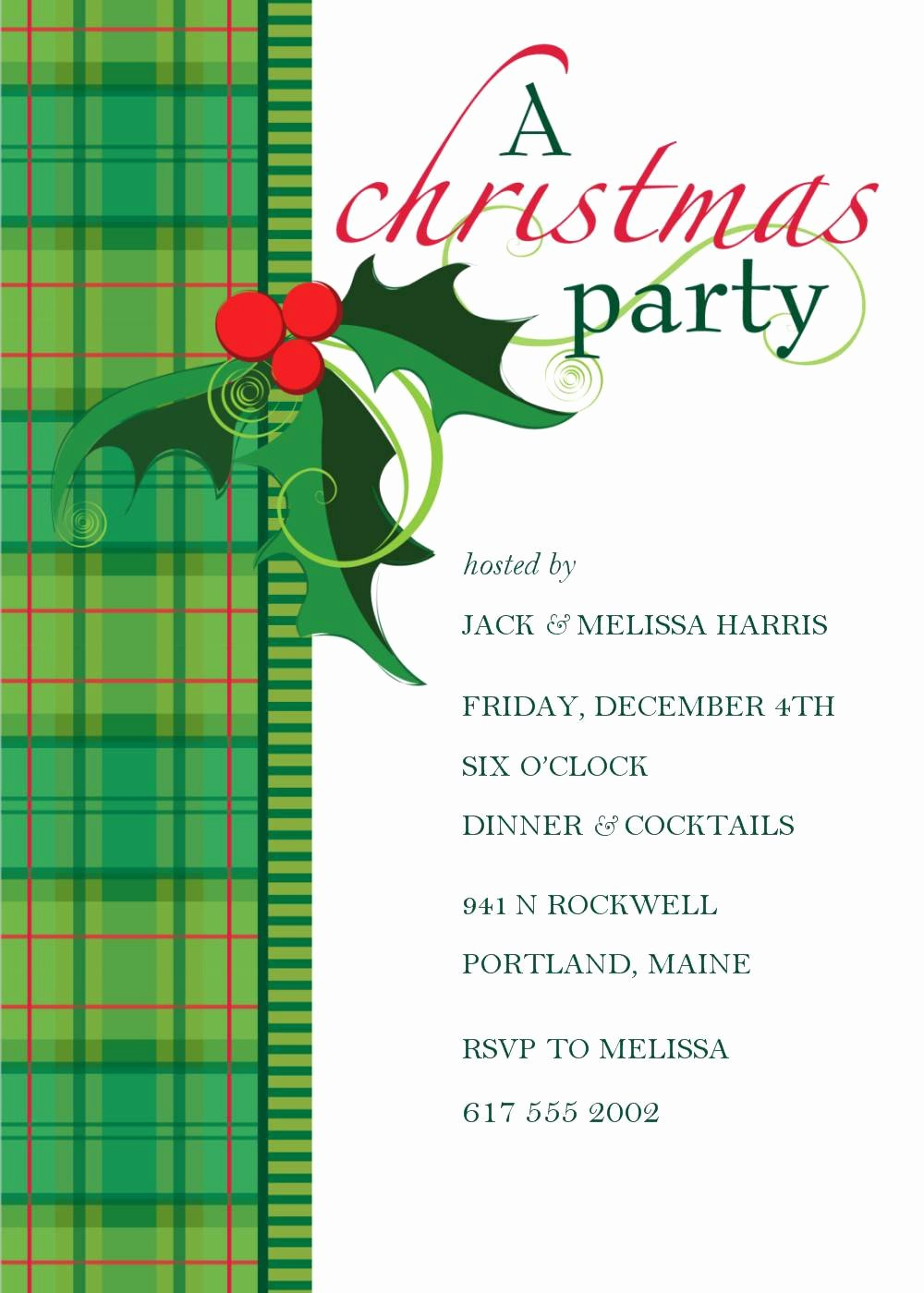 Holiday Party Invite Template Beautiful Christmas Party Invitation Template