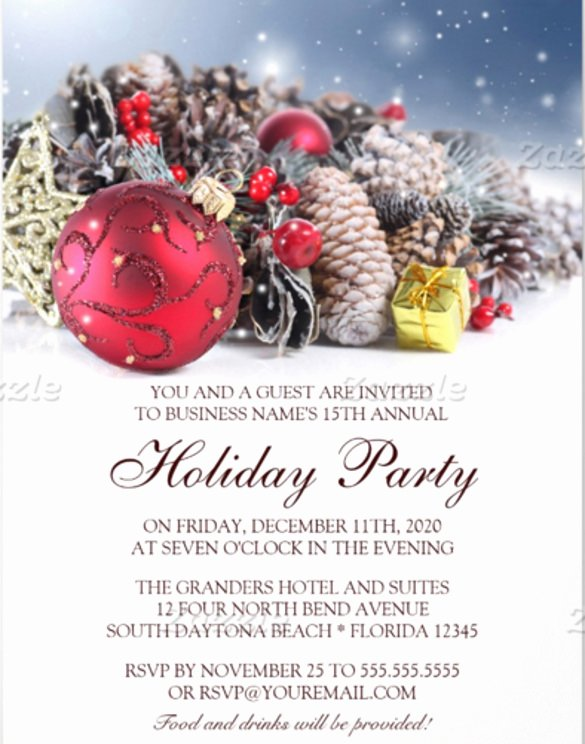 Holiday Party Invite Template Best Of 23 Business Invitation Templates – Free Sample Example