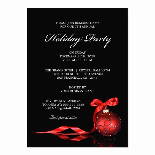 Holiday Party Invite Template Best Of Corporate Holiday Party Invitations