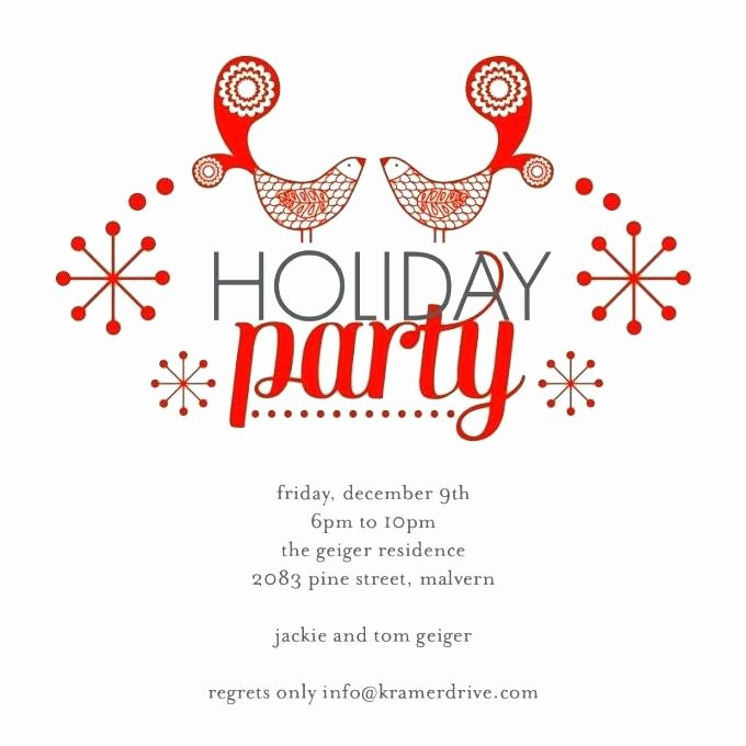 Holiday Party Invite Template Best Of Vacation Party Invitation Template Holiday Open House