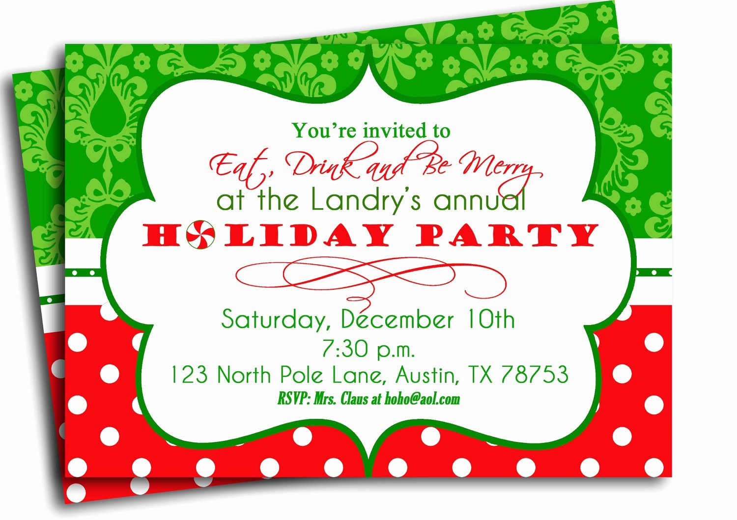 Holiday Party Invite Template Inspirational Christmas Party Invitation Printable Traditional Holiday