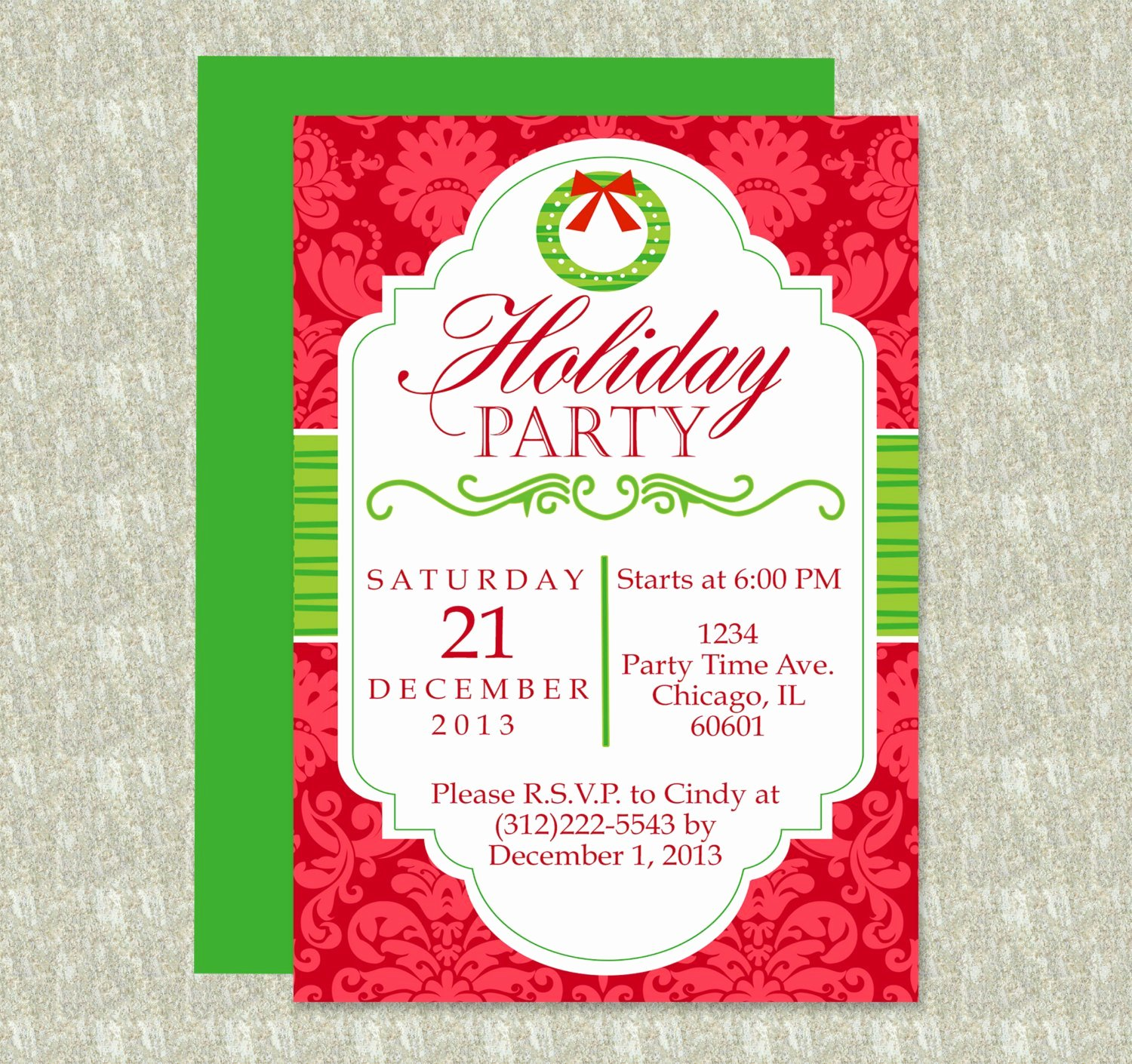 Holiday Party Invite Template Inspirational Holiday Party Invitation Editable Template Microsoft Word