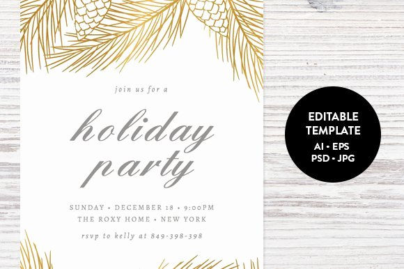 Holiday Party Invite Template Inspirational Holiday Party Invitation Template Invitation Templates