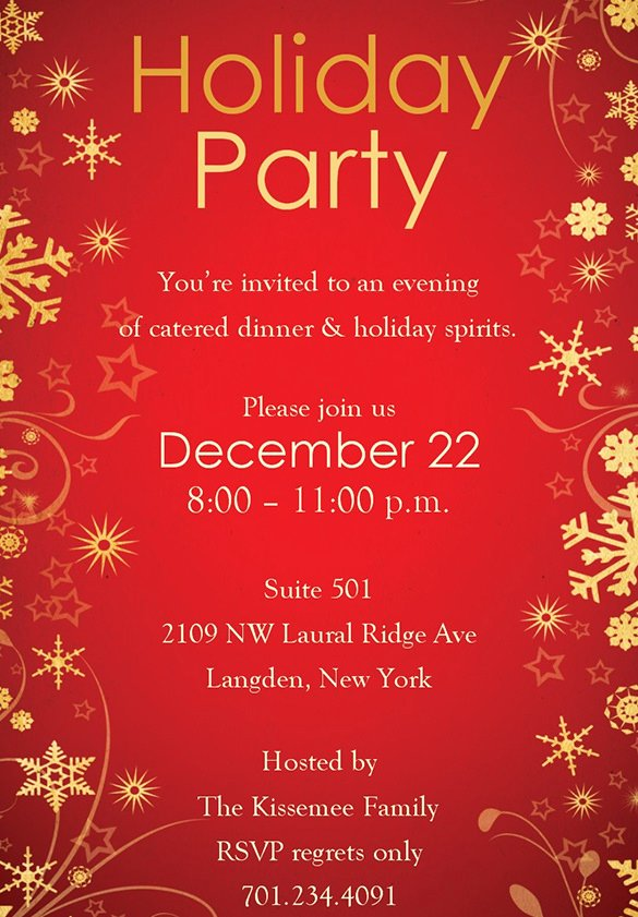 Holiday Party Invite Template Lovely Holiday Invitation Template – 17 Psd Vector Eps Ai Pdf