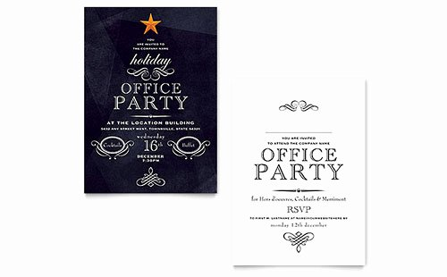 Holiday Party Invite Template Lovely Invitation Templates Microsoft Word & Publisher Templates
