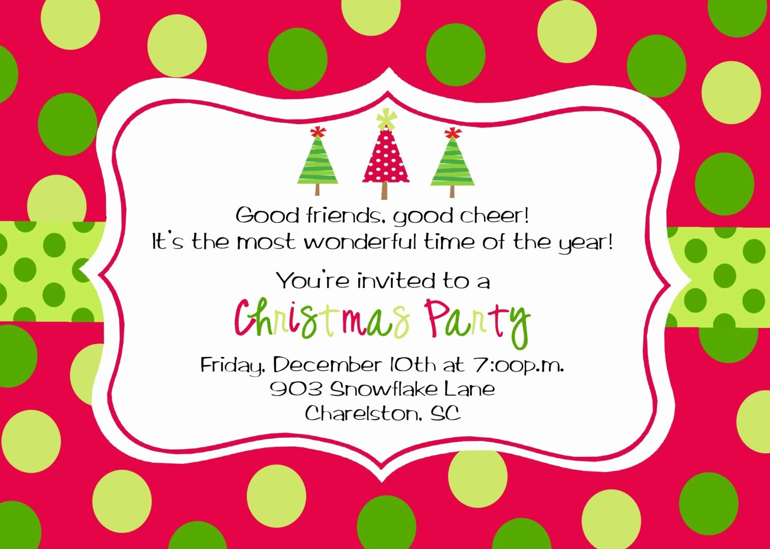 Holiday Party Invite Template Luxury Christmas Party Invitations