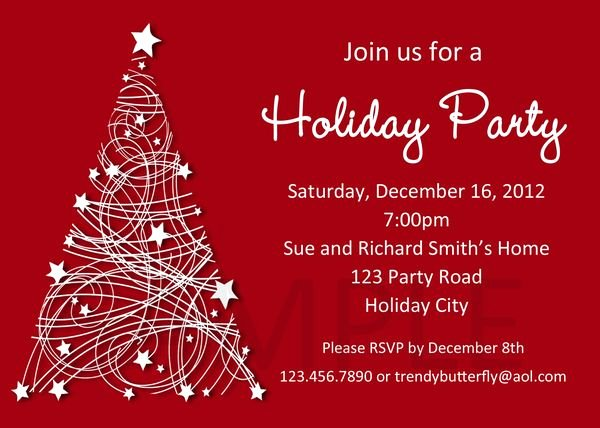 Holiday Party Invite Template Luxury Free Christmas Party Invitation Template