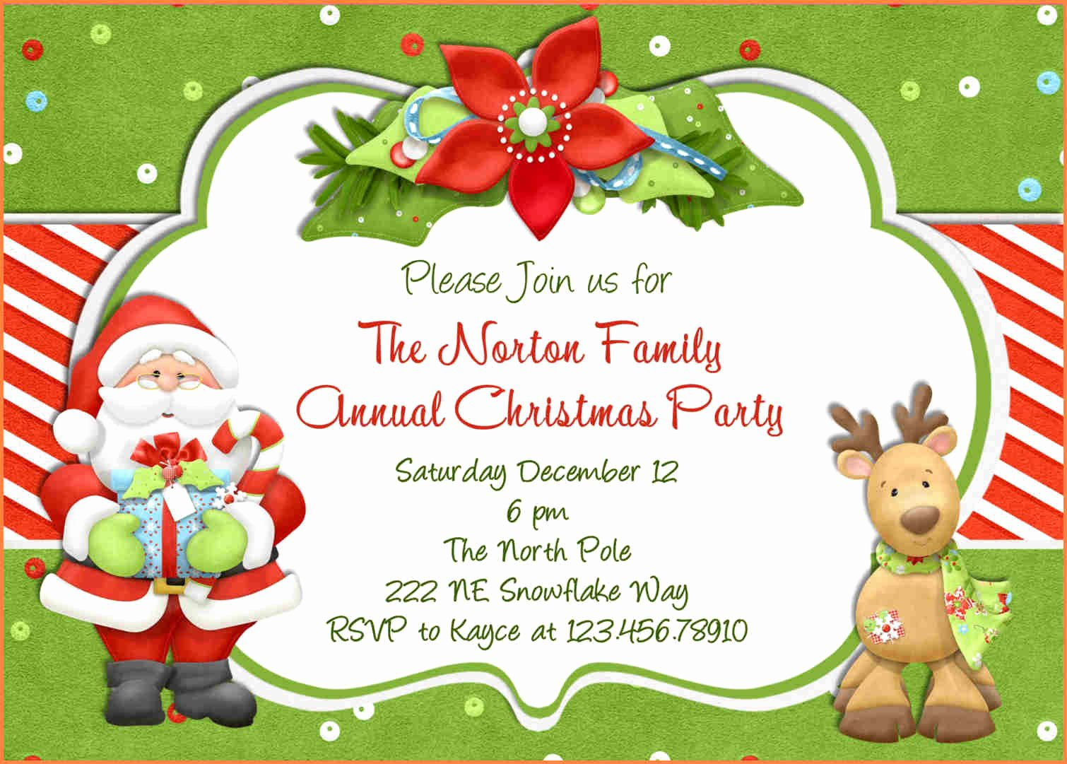 Holiday Party Invite Template New 15 Christmas Party Invitation Template