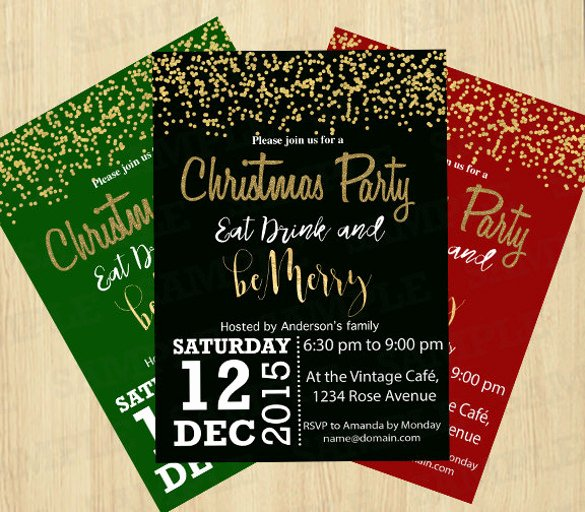 Holiday Party Invite Template New 20 Christmas Invitation Templates Free Sample Example