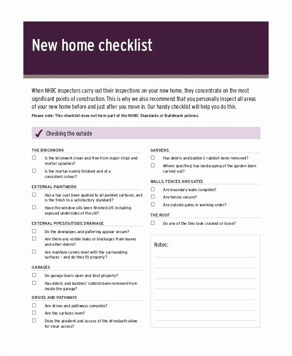 Home Buyer Checklist Template Inspirational Printable Home Inspection Checklists Word Template Lab