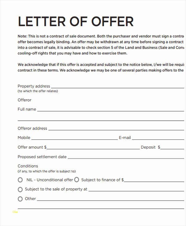 Home Buying Offer Letter Template Best Of Real Estate Fer Letter Template Inspirational formal Fer
