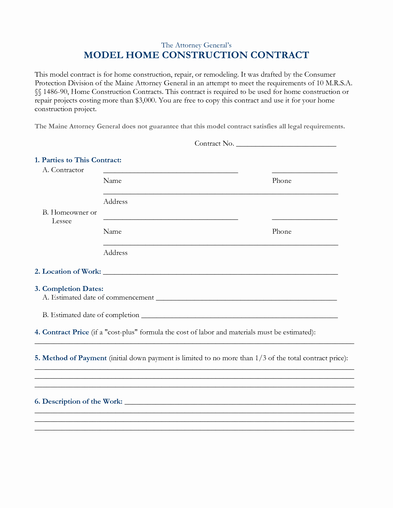 Home Construction Contract Template Awesome Free Roofing Contract Blank forms