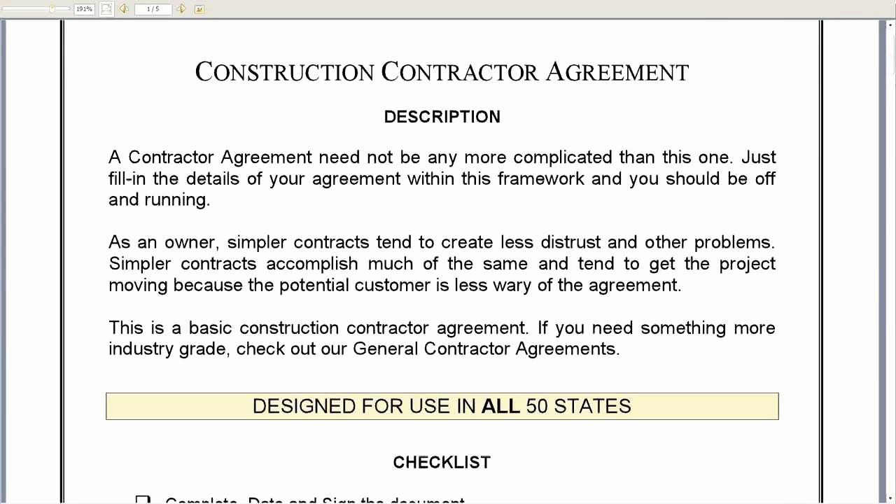 Home Construction Contract Template Beautiful Construction Contractor Agreement