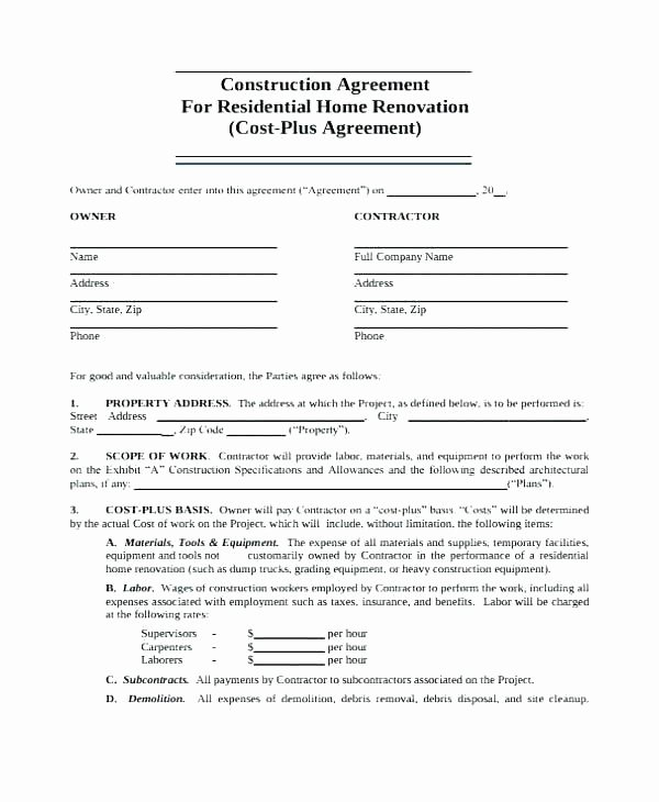 Home Construction Contract Template Inspirational 98 30 Ready to Use Scope Work Templates Examples 30