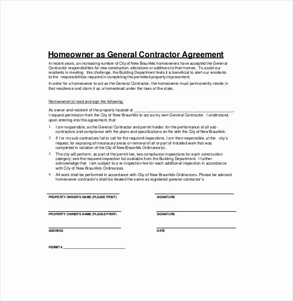 Home Construction Contract Template Unique Contractor Agreement Template – 22 Free Word Pdf Apple