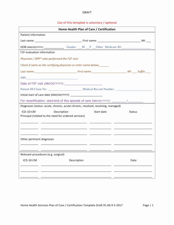 Home Health Care Plan Template Beautiful 15 Patient Care Plan Template – Pdf Word