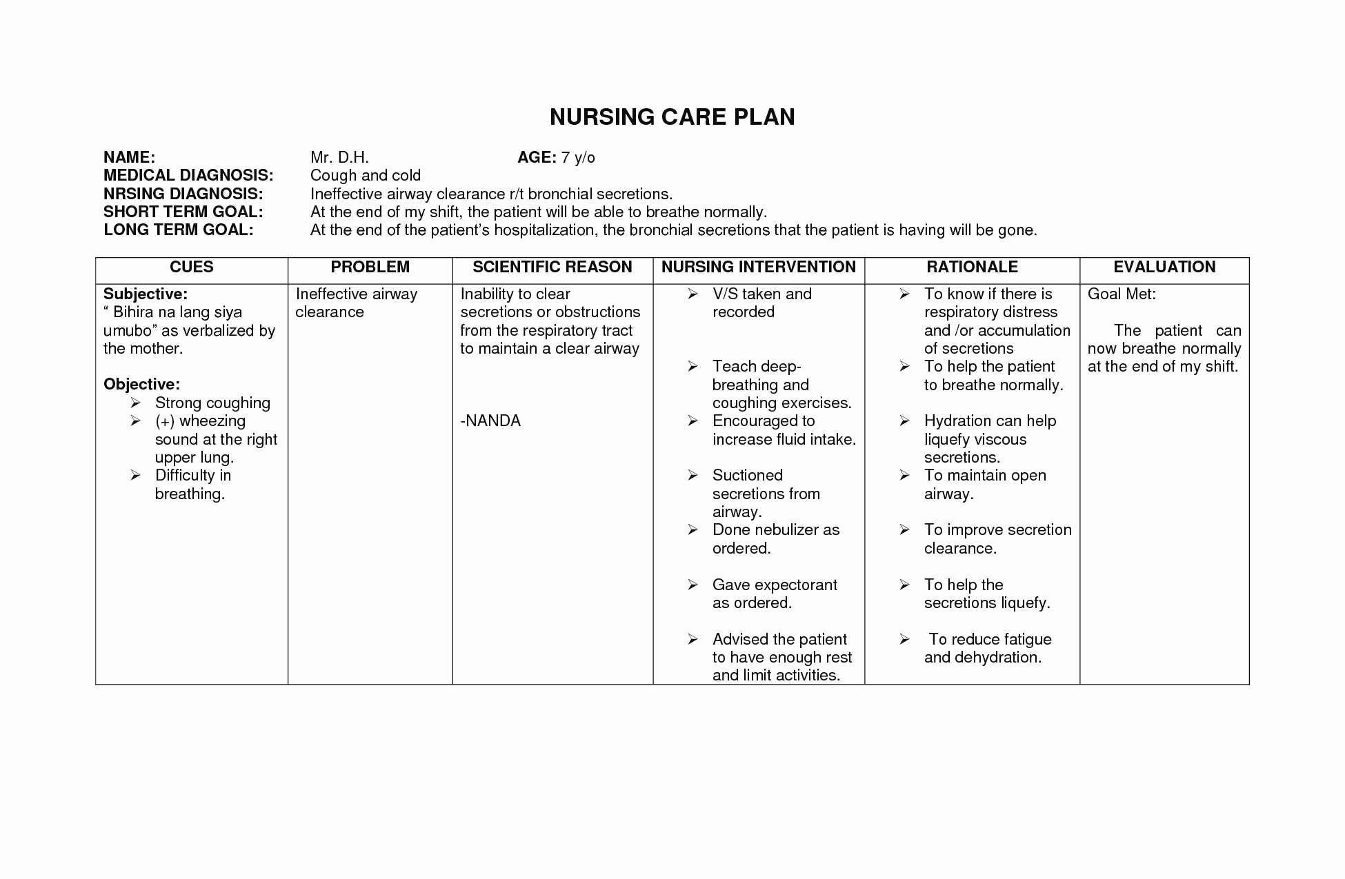Home Health Care Plan Template Beautiful New Mental Health Treatment Plan Templates