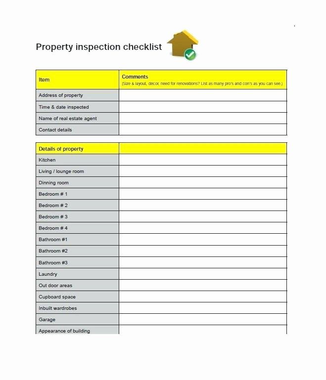 Home Inspection Checklist Template Fresh Home Inspection Checklist Template – Inntegra