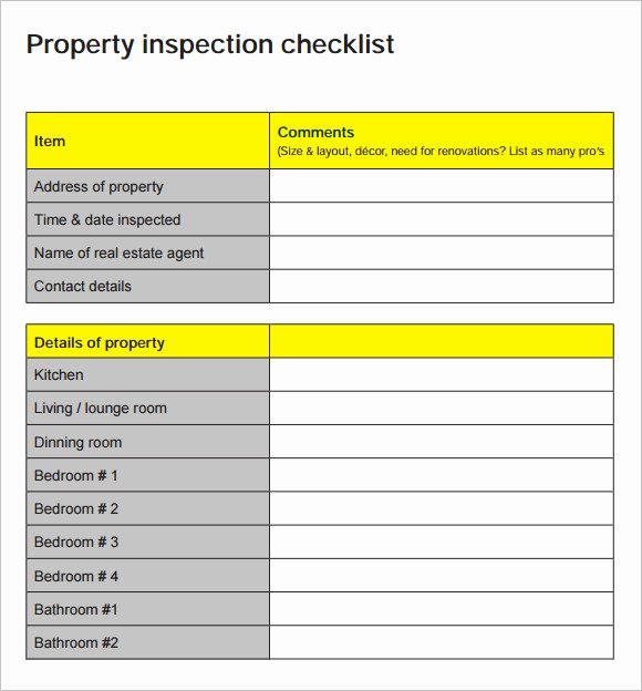 Home Inspection Checklist Template Inspirational 15 Sample Home Inspection Checklist Templates