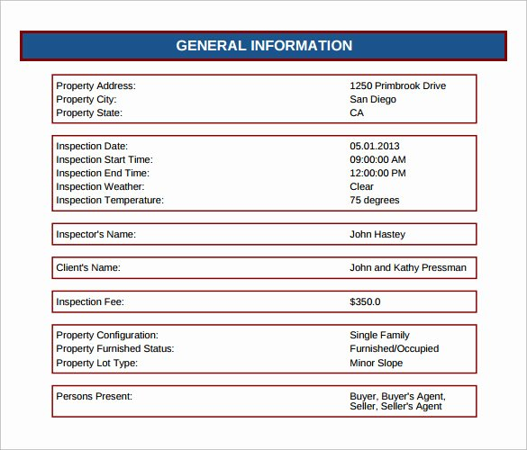 Home Inspection Report Template Pdf Best Of 12 Sample Home Inspection Reports