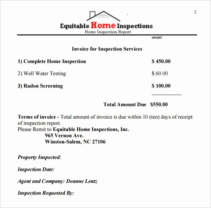 Home Inspection Report Template Pdf Lovely 9 Sample Home Inspection Report Templates