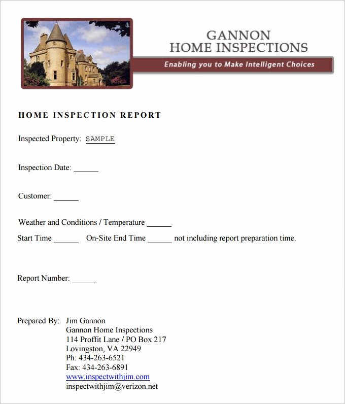 Home Inspection Report Template Pdf Unique Free Home Inspection Report Template